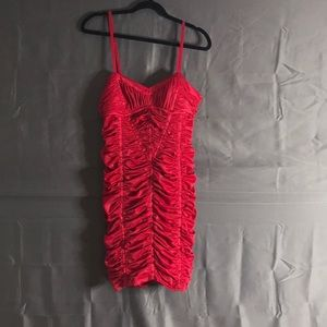 Red BEBE dress L nwot Gorgeous